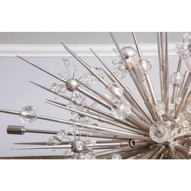 Metal Custom Austrian Crystal Spiked Sputnik For Sale - Image 7 of 10