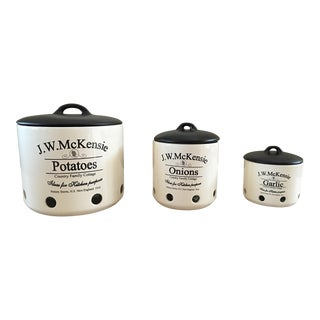 J W McKensie Ceramic Kitchen Containers - Set of 3