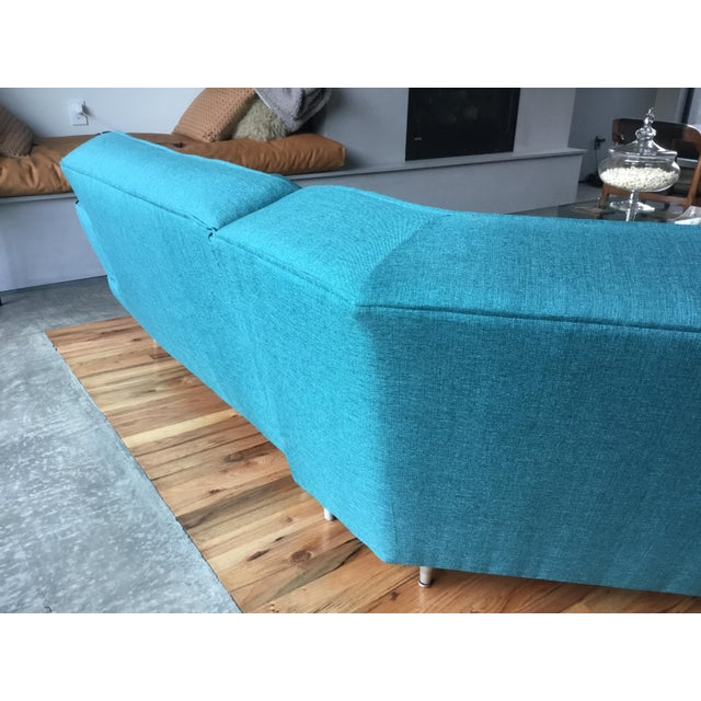 Textile Mid Century Sectional Sofa For Sale - Image 7 of 10