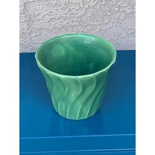 Vintage Mid Century Bauer Wavy Green Flower Pot Preview