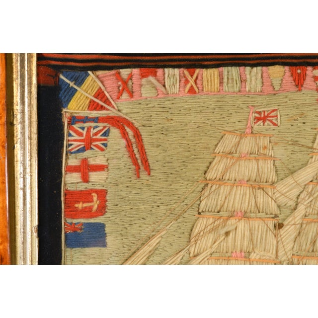Antique British Sailor's Woolwork of the Angola For Sale - Image 4 of 6