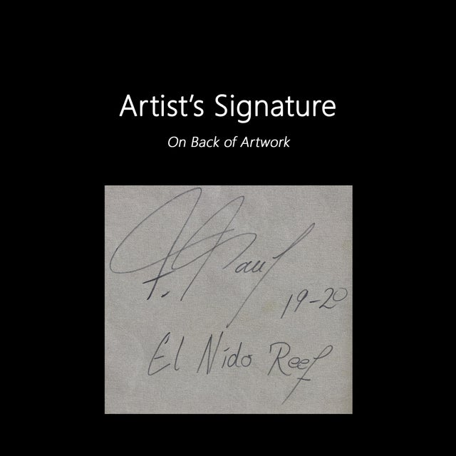 "Original Artwork by Frederic Paul, ""El Nido Reef"" For Sale - Image 10 of 11"