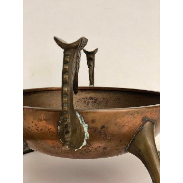 1920s Oscar B Bach Art Deco Copper/Brass Ashtray, New York, Circa 1925 For Sale - Image 5 of 11