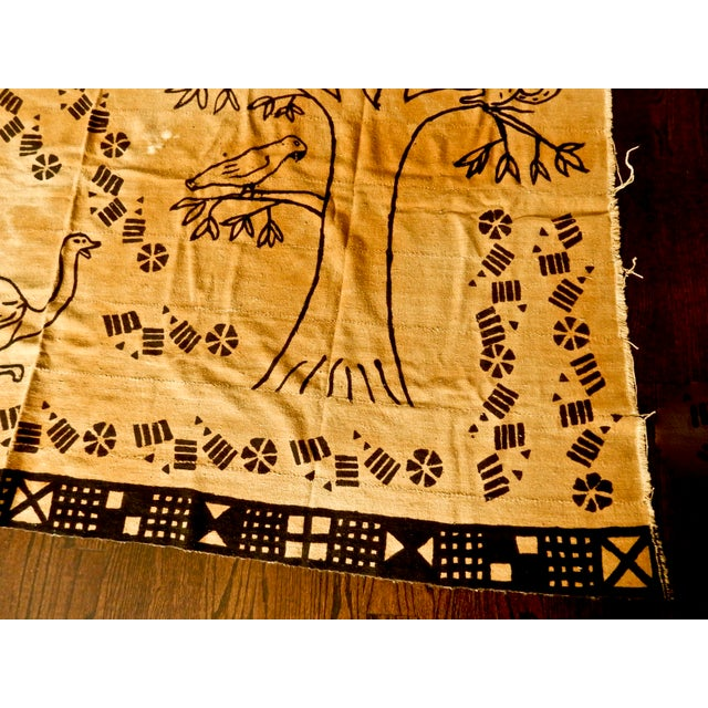 African Mud Cloth Wall Hanging or Throw - Image 3 of 6