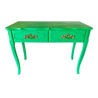 Green Painted Vanity Desk For Sale