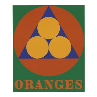 Robert Indiana-oranges-1997 Serigraph