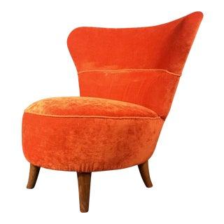 1950s Scandinavian Modern Oskar Bernströms Möbelfabrik Easy Chair For Sale