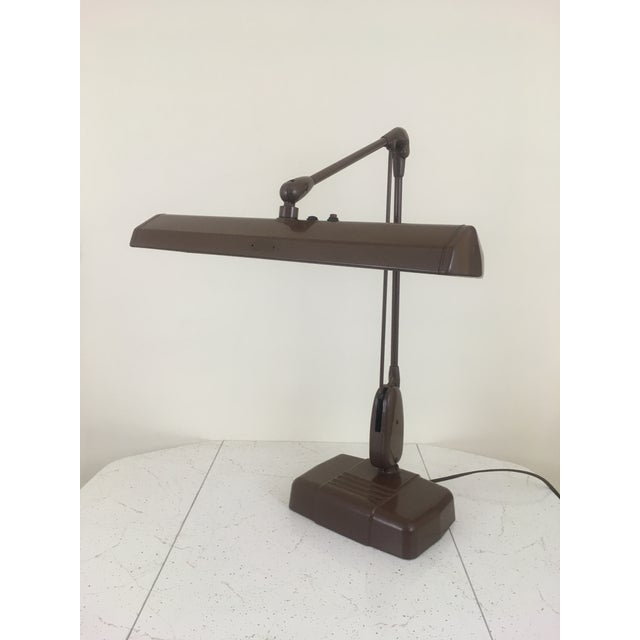 20th Century Industrial Dazor Floating Flourescent Desk Lamp For Sale - Image 11 of 12