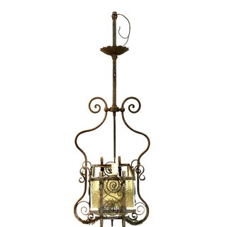 Storybook Cottage Wrought Iron Early 20th Century Lantern For Sale