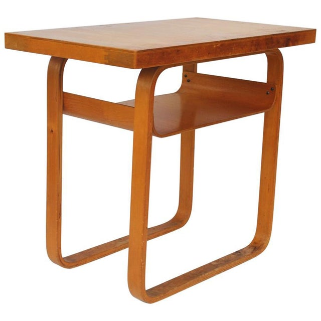 Brown Vintage Alvar Aalto 2-Tiered Birch Table For Sale - Image 8 of 8