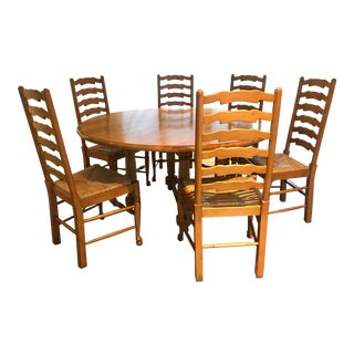 Andre Originals Solid Wood Kitchen Dining Set - 7 Pieces For Sale