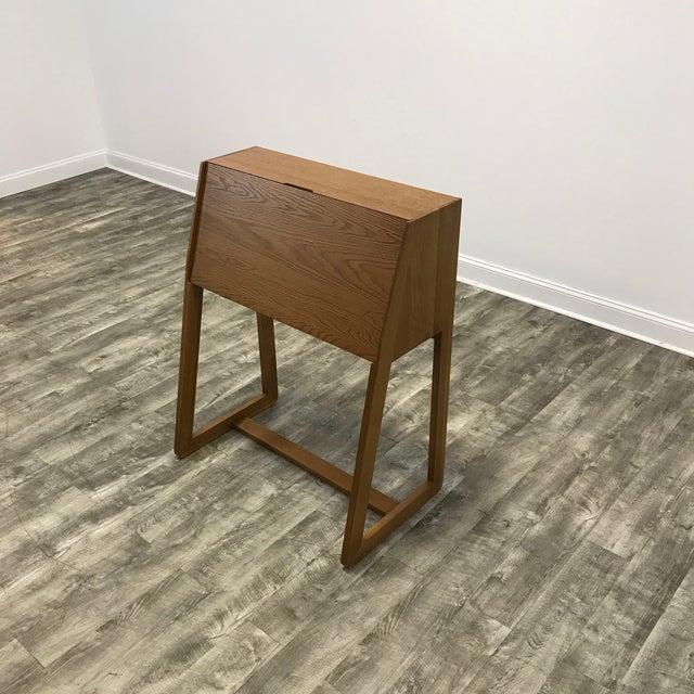 Modern Intimo Birch Secretary Desk For Image 3 Of 4