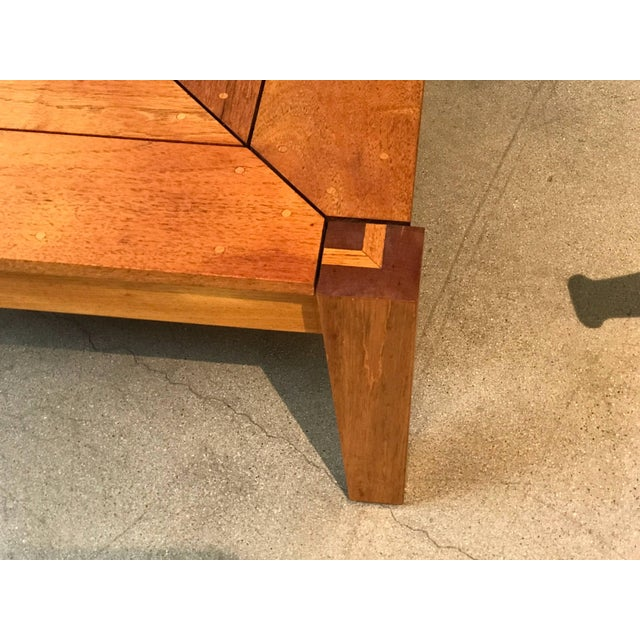 Wood Rob Edley Welborn Prototype Square Coffee Table in Spanish Cedar For Sale - Image 7 of 11