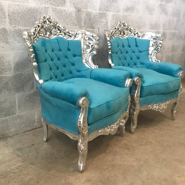 Italian Baroque Chairs - A Pair For Sale - Image 4 of 6