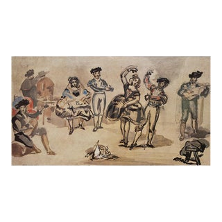 """Rare 1959 Édouard Manet """"Spanish Dancers"""", First Edition Lithograph For Sale"""