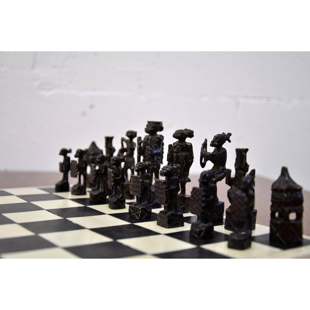 1930 Belgian Congo Ivory Chess Set For Sale - Image 4 of 10