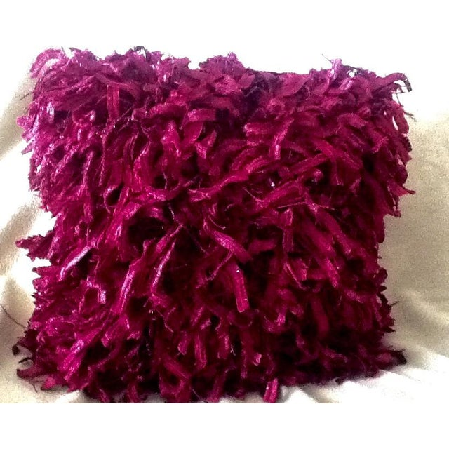 """Burgundy """"Confetti"""" Pillows - A Pair - Image 3 of 5"""