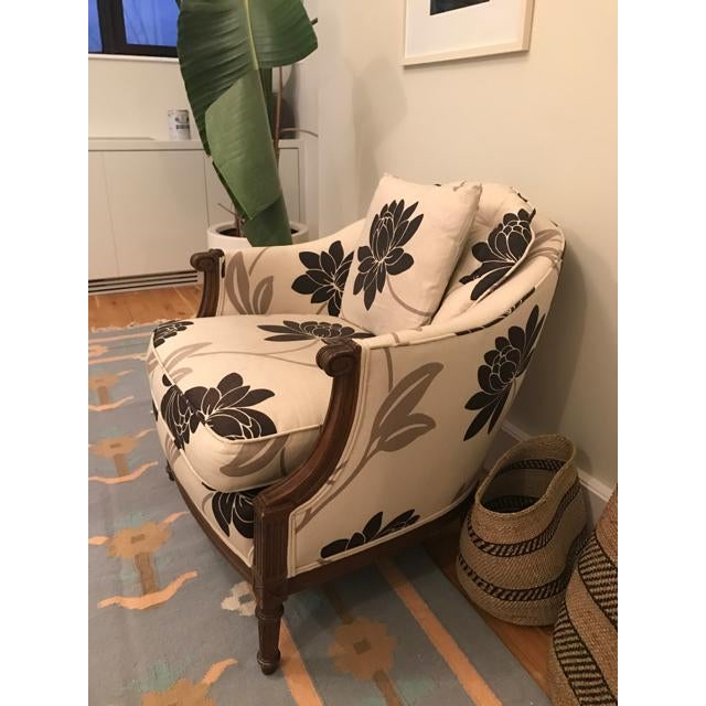 Newly Reupholstered Transitional Accent Chairs - a Pair - Image 5 of 5