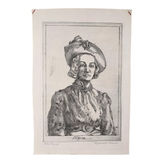Reginald Marsh's 1937 Original 'Fifty Proofs' Etching of 'Felicia' For Sale