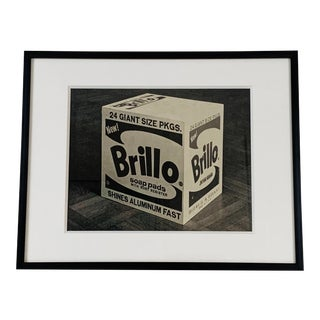 """Framed Andy Warhol """"Brillo Box"""" Print For Sale"""