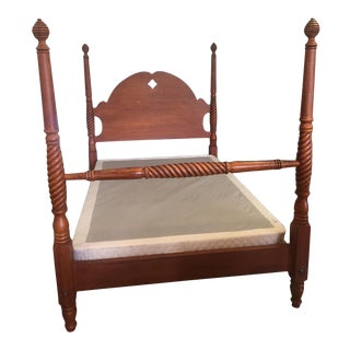 1990s Ethan Allen Country Crossings Full Size Bed For Sale