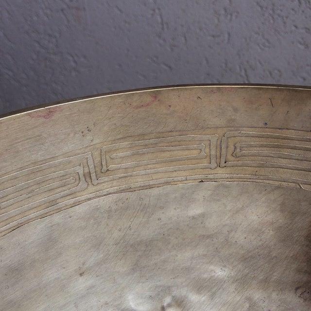 Greek Key Brass Bowl - Image 5 of 8