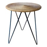 Image of Mid Century Woven Accent Table For Sale