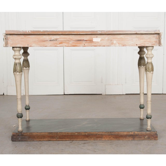Swedish 19th Century Carved and Painted Console For Sale - Image 4 of 12