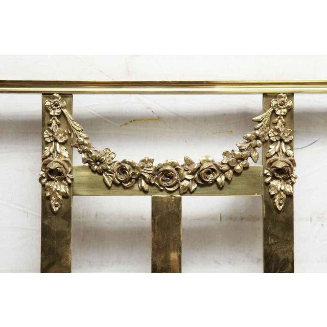 Vintage Mid-Century Full Size Brass Bedframe For Sale - Image 4 of 10