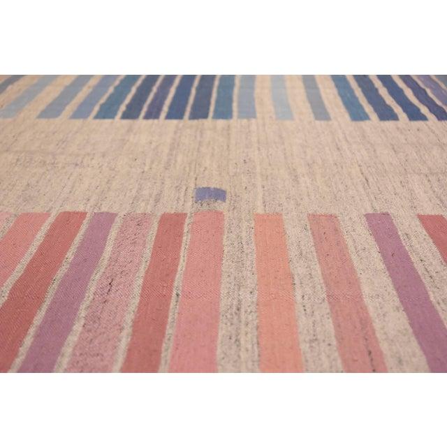 Textile Vintage Scandinavian Swedish Flat-Woven Kilim Rug - 5′7″ × 8′ For Sale - Image 7 of 10