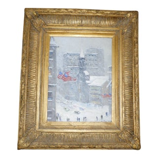 Oil on Canvas of Trinity Church, New York, by Christopher Willett For Sale