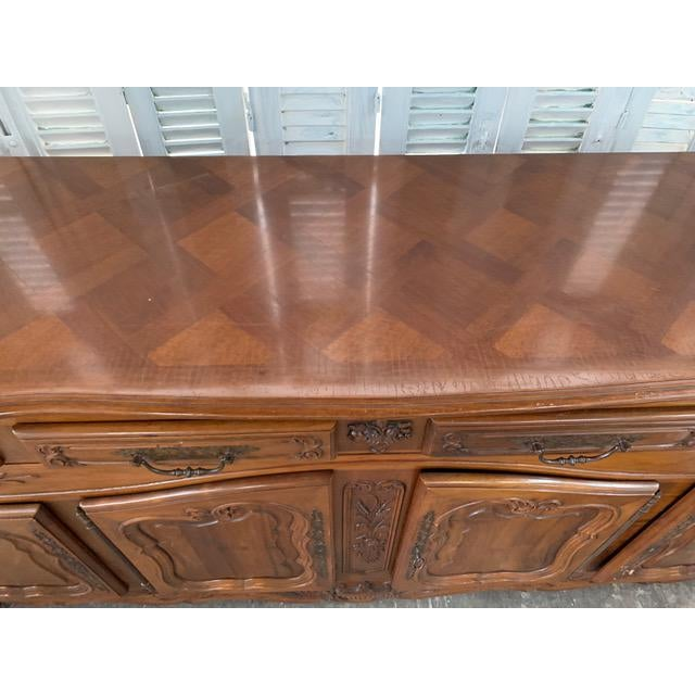 French Country 19th Century Louis XV Style Enfilade Buffet For Sale - Image 3 of 12