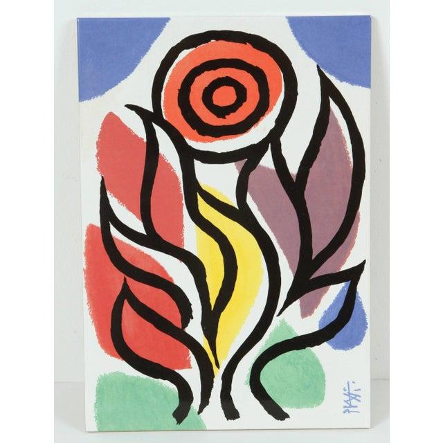 Set of Three Post Modern Celestino Piatti Ceramic Art Tiles For Sale In Los Angeles - Image 6 of 10