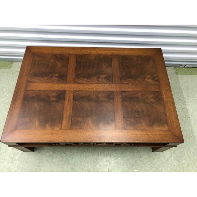 Asian 1990s Mid Century Modern Heritage Henredon Mahogany Coffee Table For Image 3