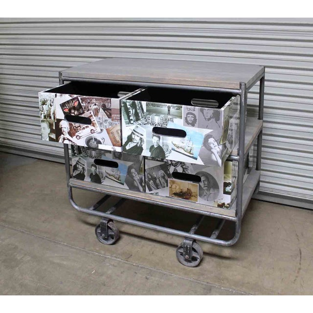 Photo Collage 2-Tier IronTrolley with Storage - Image 4 of 6