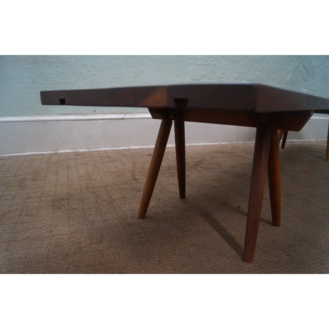 Studio Made Solid Walnut Long Low Table/Bench - Image 5 of 10