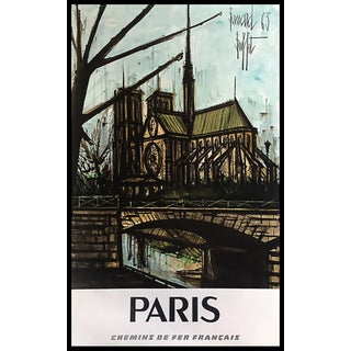 "Original Bernard Buffet ""Notre Dame"" Advertising Poster for Paris For Sale"