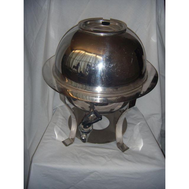 Mid-Century Stainless Steel Hot Water Samovar Dispenser For Sale - Image 5 of 6