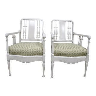 Pullman Davenport Lacquered Chairs, Pair For Sale