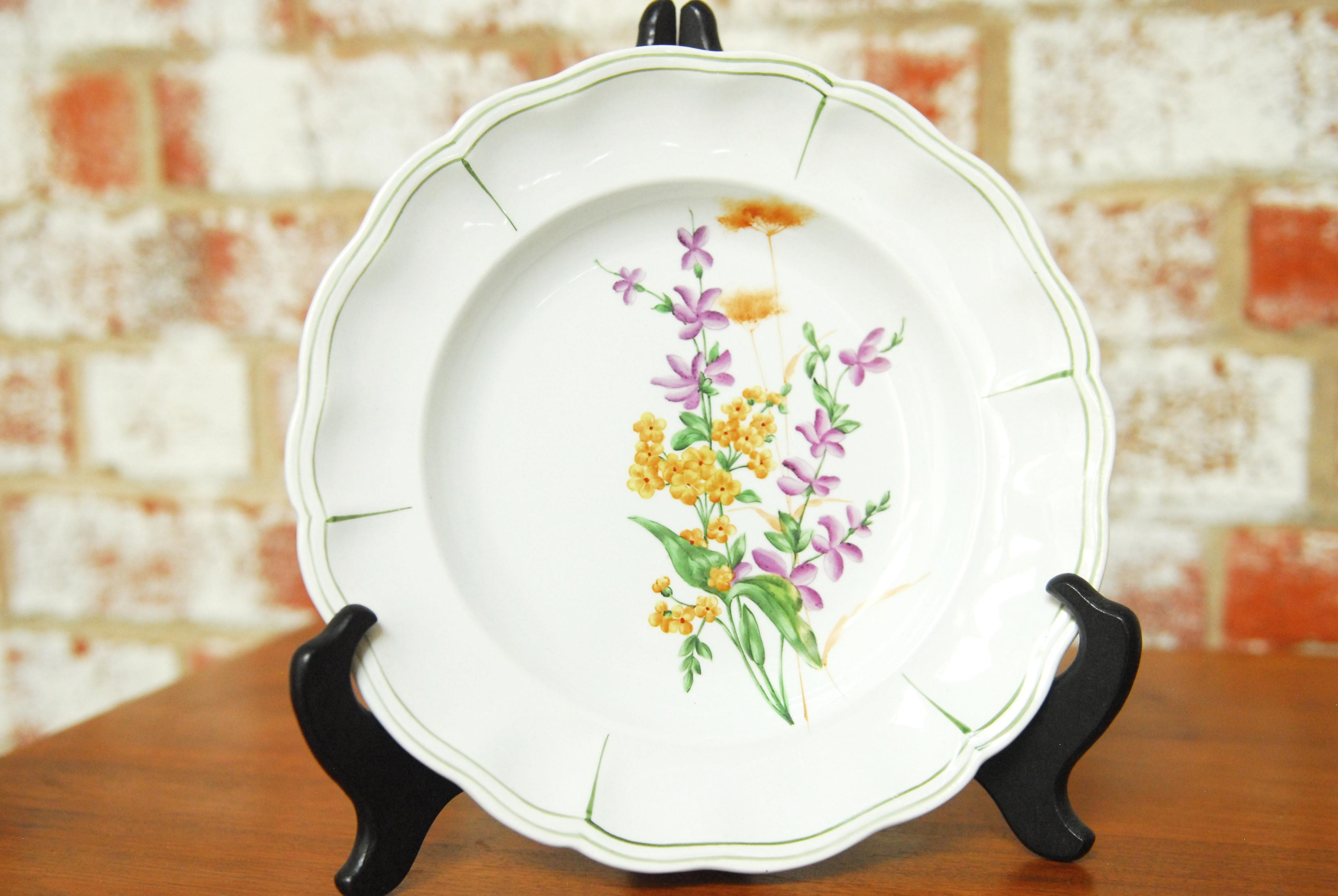 Set of 66 French Luneville Hand-Painted Floral Dining Plates \ Rovina Epinal\  -  sc 1 st  Chairish & Set of 66 French Luneville Hand-Painted Floral Dining Plates \