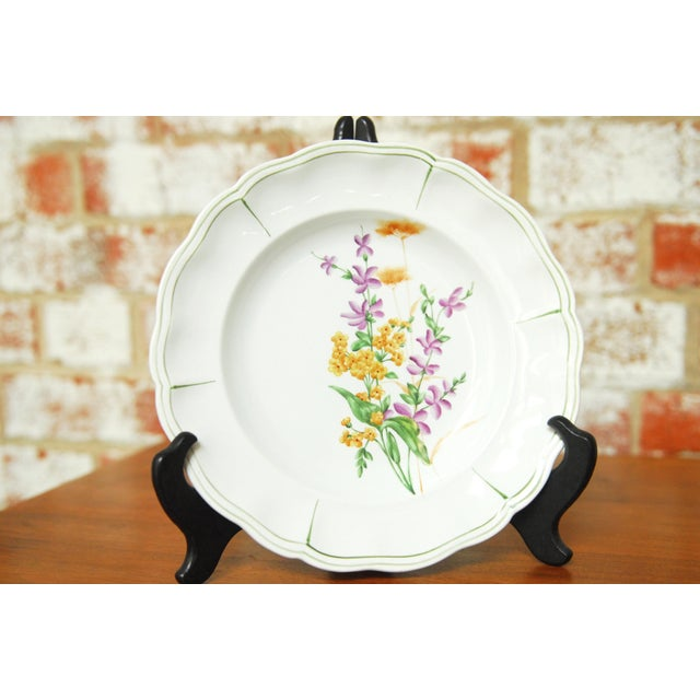"""Luneville Set of 66 French Luneville Hand-Painted Floral Dining Plates """"Rovina Epinal"""" For Sale - Image 4 of 11"""