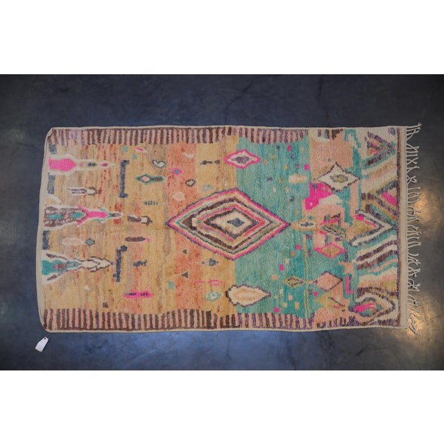 2010s Boho Chic Moroccan Tribal and Geometric Design Rug - 4′11″ × 8′10″ For Sale - Image 5 of 5