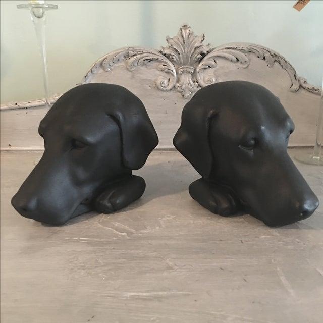 Vintage Black Lab Labrador Bookends - Image 2 of 5