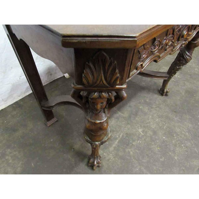 Wood Bear Claw Wooden Console Table For Sale - Image 7 of 10