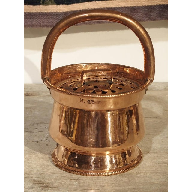 Metal 17th Century Copper Chaufferette From France For Sale - Image 7 of 10