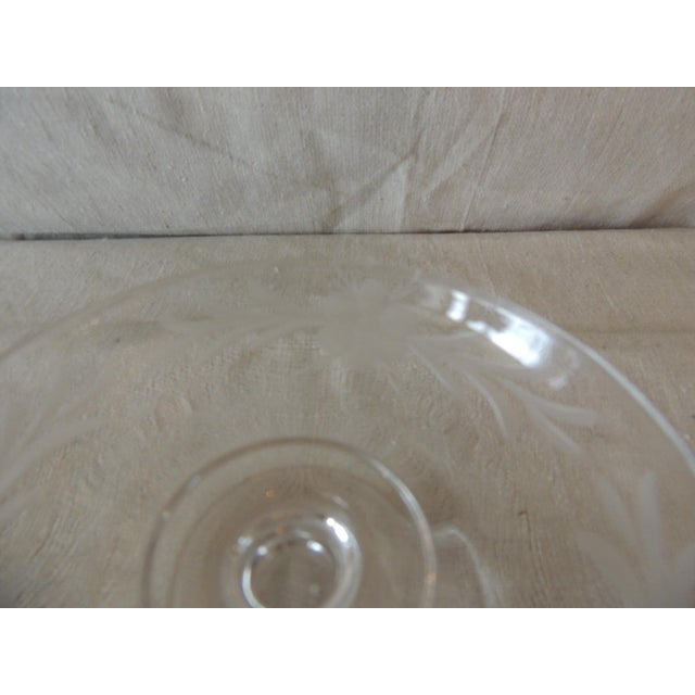 Vintage Cut Crystal Footed Candy Dish Size: 5 x 3 x 2
