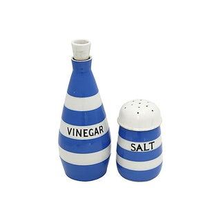 English Cornishware Salt & Vinegar Set Preview