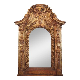 17th Century Italian Giltwood Mirror For Sale