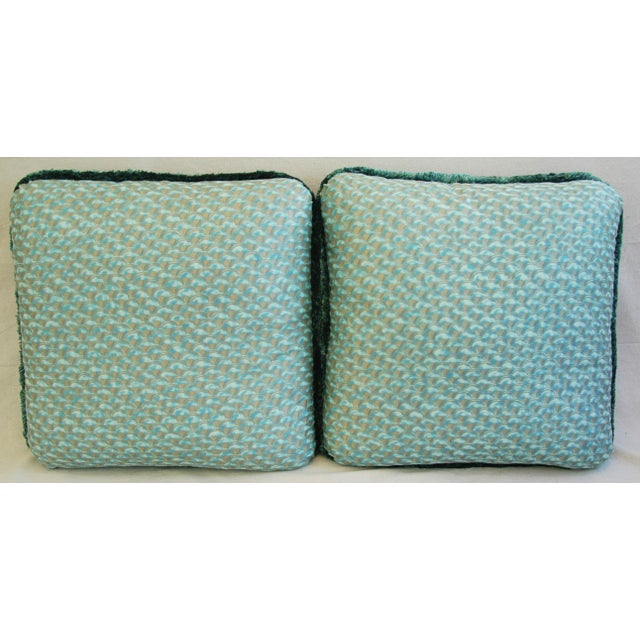 Belgian Designer Italian Mariano Fortuny Papiro Feather/Down Pillows - a Pair For Sale - Image 3 of 11