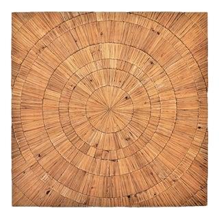 Large Mid-Century Organic Modern Wooden Sunburst Wall Sculpture Art